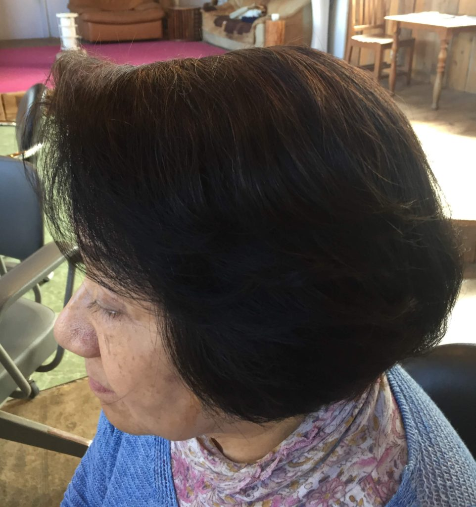ヘナの色が明る過ぎると感じる方はヘナで白髪染めした後にインディゴ(木藍)をすると落ち着いたブラウンになります。ヘナのカラーサンプル1